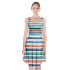 Summer Mood Striped Pattern Racerback Midi Dress