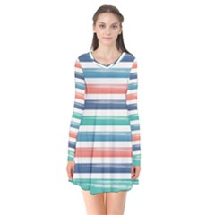 Summer Mood Striped Pattern Flare Dress