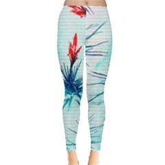 Tillansia Flowers Pattern Leggings
