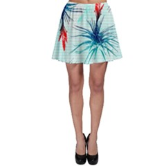 Tillansia Flowers Pattern Skater Skirt