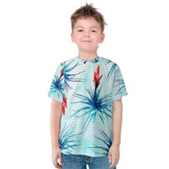 Tillansia Flowers Pattern Kids  Cotton Tee