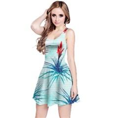 Tillansia Flowers Pattern Reversible Sleeveless Dress