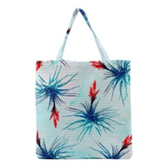 Tillansia Flowers Pattern Grocery Tote Bag