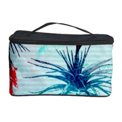 Tillansia Flowers Pattern Cosmetic Storage Case
