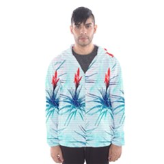 Tillansia Flowers Pattern Hooded Wind Breaker (men)