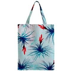 Tillansia Flowers Pattern Zipper Classic Tote Bag by DanaeStudio