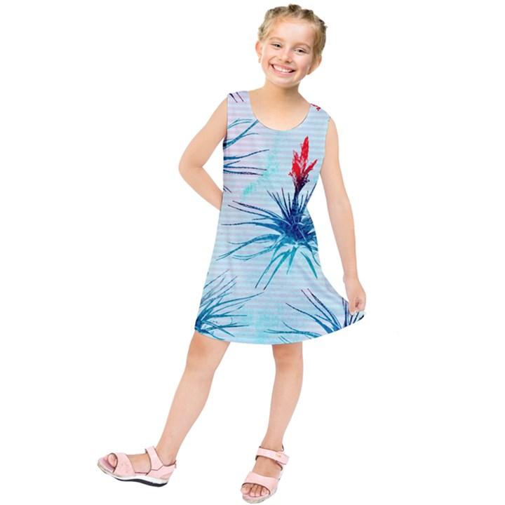 Tillansia Flowers Pattern Kids  Tunic Dress