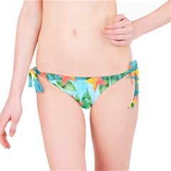 Tropical Starfruit Pattern Bikini Bottom