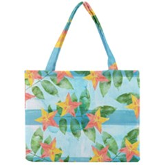 Tropical Starfruit Pattern Mini Tote Bag
