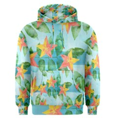 Tropical Starfruit Pattern Men s Pullover Hoodie