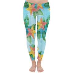 Tropical Starfruit Pattern Classic Winter Leggings