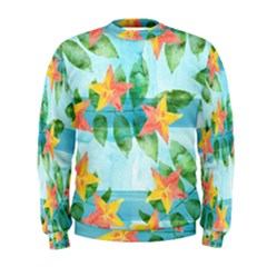 Tropical Starfruit Pattern Men s Sweatshirt by DanaeStudio