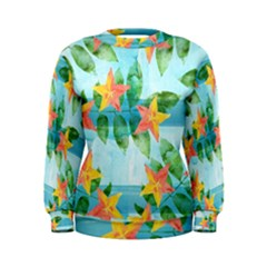 Tropical Starfruit Pattern Women s Sweatshirt by DanaeStudio