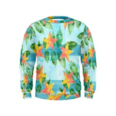 Tropical Starfruit Pattern Kids  Sweatshirt