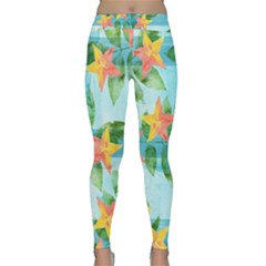 Tropical Starfruit Pattern Classic Yoga Leggings