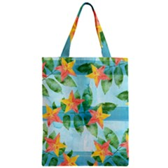 Tropical Starfruit Pattern Zipper Classic Tote Bag