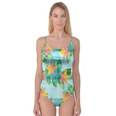 Tropical Starfruit Pattern Camisole Leotard
