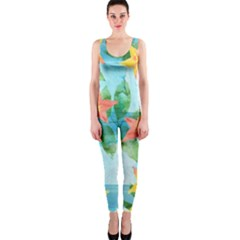 Tropical Starfruit Pattern Onepiece Catsuit