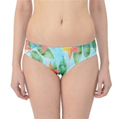Tropical Starfruit Pattern Hipster Bikini Bottoms