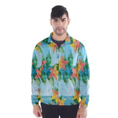 Tropical Starfruit Pattern Wind Breaker (men)