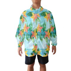 Tropical Starfruit Pattern Wind Breaker (kids)