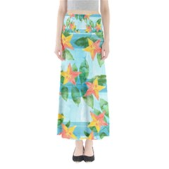 Tropical Starfruit Pattern Maxi Skirts by DanaeStudio