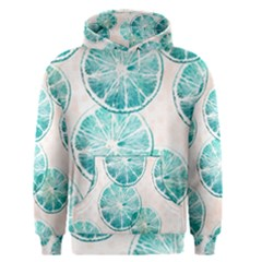 Turquoise Citrus And Dots Men s Pullover Hoodie