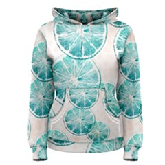 Turquoise Citrus And Dots Women s Pullover Hoodie