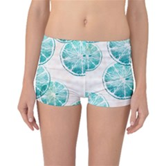 Turquoise Citrus And Dots Boyleg Bikini Bottoms