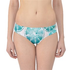 Turquoise Citrus And Dots Hipster Bikini Bottoms
