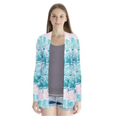 Turquoise Citrus And Dots Cardigans