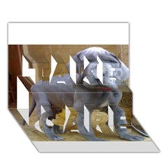 Great Dane Puppy Blue TAKE CARE 3D Greeting Card (7x5) by TailWags