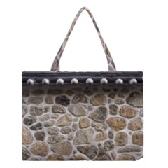 Roof Tile Damme Wall Stone Medium Tote Bag by Zeze