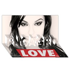 Sasha Grey Love Engaged 3d Greeting Card (8x4) by Onesevenart
