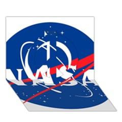 Nasa Logo Peace Sign 3d Greeting Card (7x5) by Onesevenart