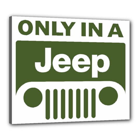 Only In A Jeep Logo Canvas 24  X 20  by Onesevenart