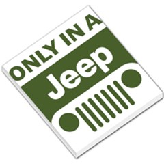 Only In A Jeep Logo Small Memo Pads by Onesevenart