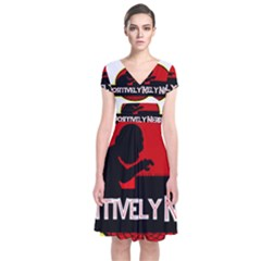 Positively Nerdy Short Sleeve Front Wrap Dress by Onesevenart