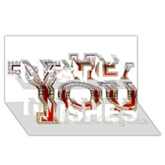 Hey You I Love You Best Wish 3d Greeting Card (8x4) by Onesevenart