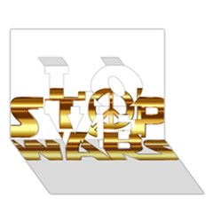 Stop Wars Love 3d Greeting Card (7x5)