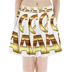 Stop Wars Pleated Mini Skirt by Onesevenart