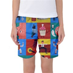 The Oxford Dictionary Illustrated Women s Basketball Shorts by Onesevenart