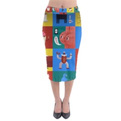 The Oxford Dictionary Illustrated Midi Pencil Skirt by Onesevenart