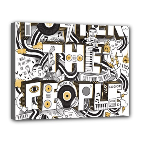 Foster The People Creative Typography Canvas 14  X 11  by Onesevenart