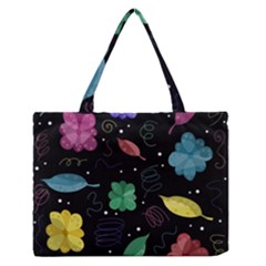 Colorful floral design Medium Zipper Tote Bag by Valentinaart