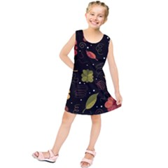 Autumn Flowers  Kids  Tunic Dress