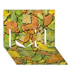 Autumn Flowers I Love You 3d Greeting Card (7x5) by Valentinaart