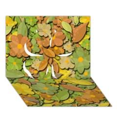 Autumn Flowers Clover 3d Greeting Card (7x5) by Valentinaart