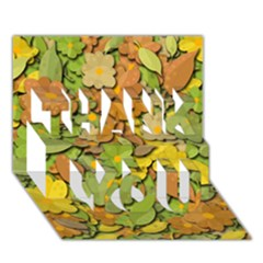 Autumn Flowers Thank You 3d Greeting Card (7x5) by Valentinaart