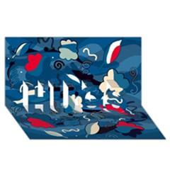 Ocean Hugs 3d Greeting Card (8x4)